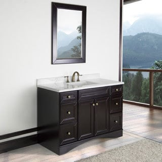 Corvus 48-inch Bathroom Vanity with Italian Carrera Marble Top