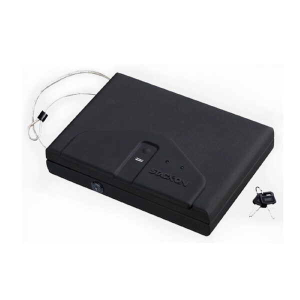 Stack On Black Portable Case with Biometric Lock