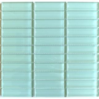 lush surf sea foam green 1 x 4 inch glass tile pack of 10
