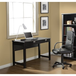 Modern Design Espresso Contemporary Workstation Desk