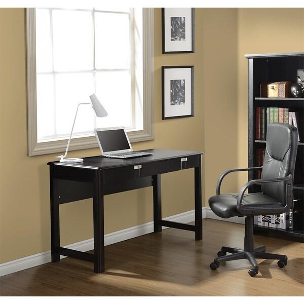 Modern Design Espresso Contemporary Workstation Desk