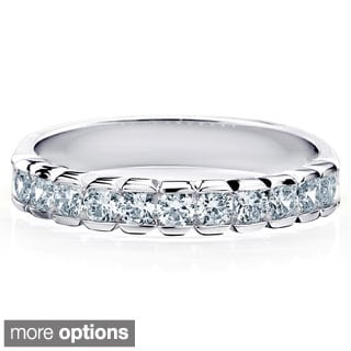 14k Gold 1/2ct TDW Machine-set Round Diamond Band (H-I, I1-I2)