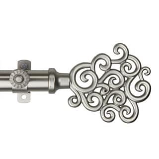 Cloud Adjustable Satin Nickel Curtain Rod