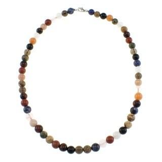 Pearlz Ocean Multi Gemstone 8 mm Bead Necklace