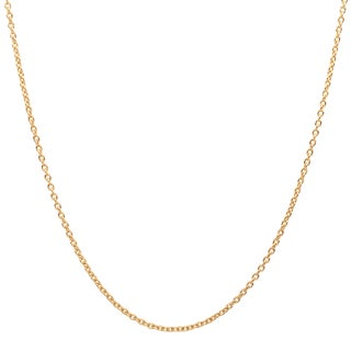 Sterling Essentials 14k Gold over Silver Cable Chain