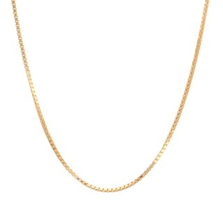 Roberto Martinez Italian Roberto Martinez Yellow Gold Plated Silver 1.25 mm Box Chain (16-30 Inch)