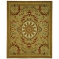 Safavieh Hand-made Savonnerie Beige/ Gold Wool Rug (6' x 9')