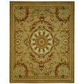 Safavieh Hand-made Savonnerie Beige/ Gold Wool Rug (8' x 10')
