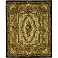 Safavieh Hand-made Savonnerie Gold Wool Rug (6' x 9')