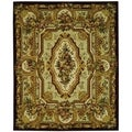 Safavieh Hand-made Savonnerie Gold Wool Rug (8' x 10')