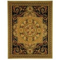 Safavieh Hand-made Savonnerie Beige/ Black Wool Rug (8' x 10')