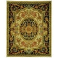 Safavieh Hand-made Savonnerie Ivory/ Gold Wool Rug (9' x 12')