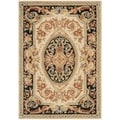 Safavieh Hand-made Savonnerie Ivory/ Gold Wool Rug (3' x 5')
