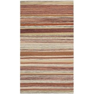Safavieh Hand-woven Striped Kilim Beige Wool Rug (2'6 x 4')