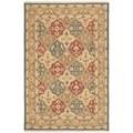 Safavieh Hand-woven Sumak Taupe Wool Rug (8' x 10')