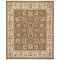 Safavieh Hand-woven Sumak Brown/ Beige Wool Rug (6' x 9')