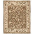 Safavieh Hand-woven Sumak Brown/ Beige Wool Rug (8' x 10')