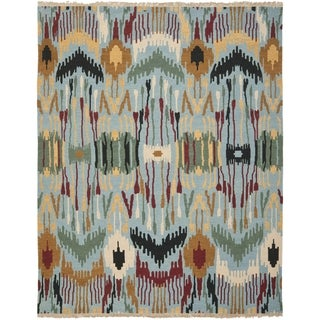 Safavieh Hand-woven Sumak Blue Wool Rug (9' x 12')
