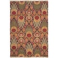 Safavieh Hand-woven Sumak Red/ Green Wool Rug (9' x 12')