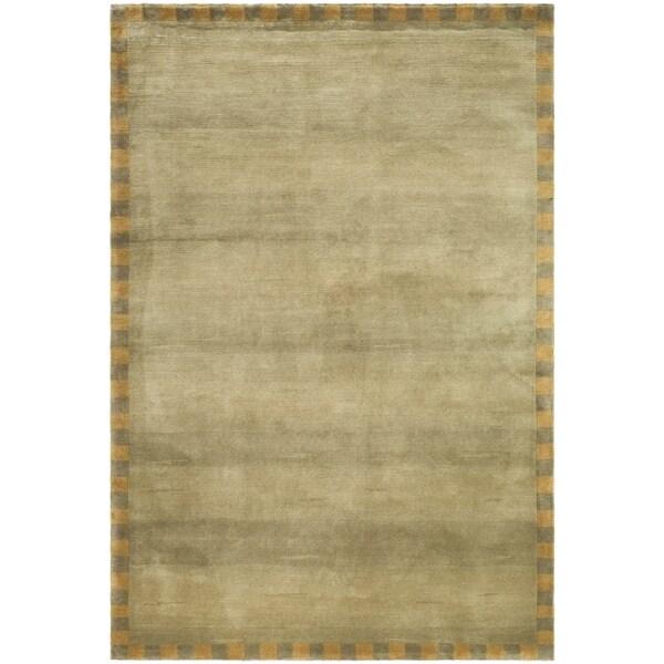 Safavieh Hand-knotted Tibetan Sage/ Green Wool Rug (9' x 12')