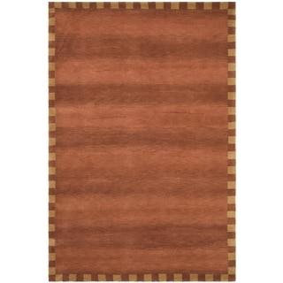 Safavieh Hand-knotted Tibetan Geometric-pattern Rust Wool Rug (8' x 10')