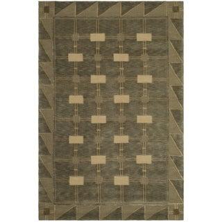 Safavieh Hand-knotted Tibetan Sage/ Tan Wool Rug (10' x 14')