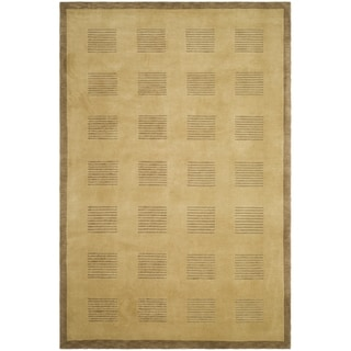 Safavieh Hand-knotted Tibetan Camel/ Brown Wool Rug (9' x 12')