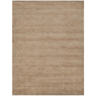 Safavieh Hand-knotted Tibetan Greek Key Camel Wool Rug (9' x 12')