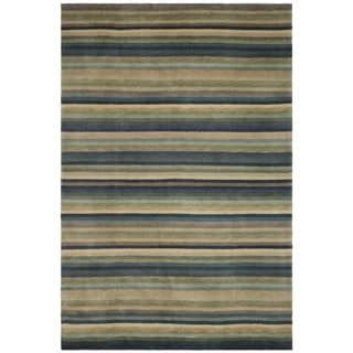 Safavieh Hand-knotted Tibetan Blue/ Grey Wool Rug (6' x 9')