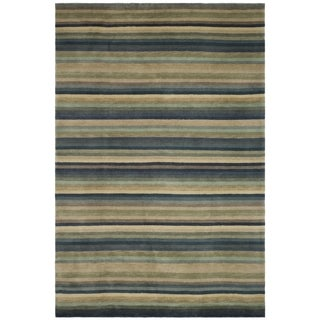 Safavieh Hand-knotted Tibetan Blue/ Grey Wool Rug (6' x 9')
