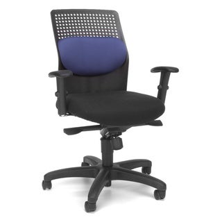 OFM Airflo Series 650 Blue/Black Executive Task Chair
