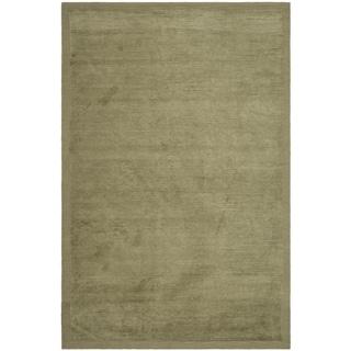 Safavieh Hand-knotted Tibetan Olive Wool/ Silk Rug (9' x 12')