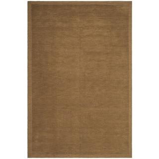 Safavieh Hand-knotted Tibetan Brown Wool/ Silk Rug (4' x 6')