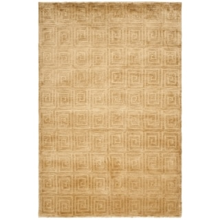 Safavieh Hand-knotted Tibetan Greek Key Ivory Wool Rug (9' x 12')