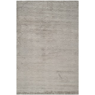 Safavieh Hand-knotted Tibetan Greek Key Eucalyptus Wool Rug (8' x 10')