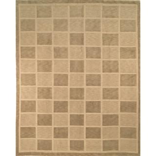 Safavieh Hand-knotted Tibetan Sage/ Beige Wool Rug (10' x 14')