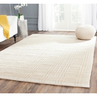 Safavieh Hand-knotted Contemporary Tibetan Ivory Wool Rug (6' x 9')