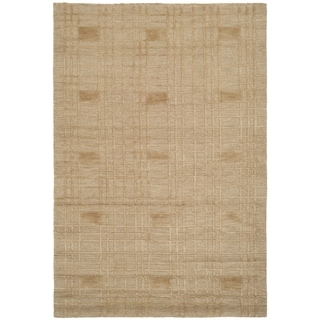 Safavieh Hand-knotted Tibetan Gold Wool Rug (6' x 9')