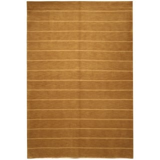 Safavieh Hand-knotted Tibetan Beige Wool/ Silk Rug (4' x 6')