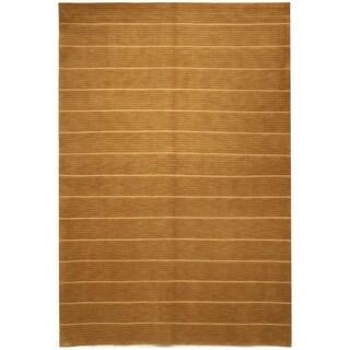 Safavieh Hand-knotted Tibetan Geometric Beige Wool/ Silk Rug (9' x 12')