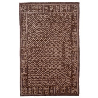 Safavieh Hand-knotted Tibetan Multicolored Wool/ Silk Area Rug (8' x 10')