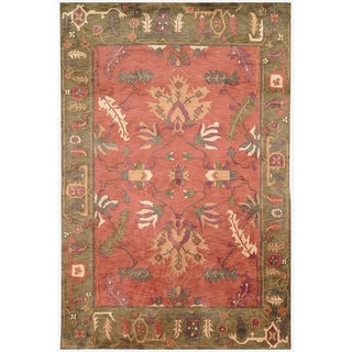 Safavieh Hand-knotted Tibetan Rust Wool Rug (5' x 7'6)