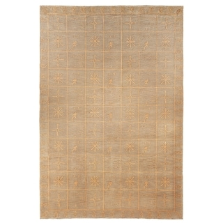 Safavieh Hand-knotted Tibetan Green Wool/ Silk Rug (9' x 12')