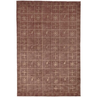 Safavieh Hand-knotted Tibetan Multi-colored Wool/ Silk Rug (9' x 12')