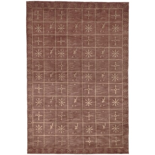 Safavieh Hand-knotted Tibetan Geometric-pattern Multicolored Wool/ Silk Rug (9' x 12')