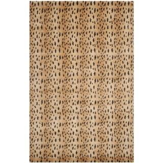 Safavieh Hand-knotted Tibetan Rust/ Lavander Wool Rug (4' x 6')