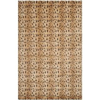 Safavieh Hand-knotted Tibetan Rust/ Lavander Wool Rug (9' x 12')