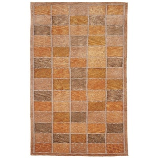 Safavieh Hand-knotted Tibetan Squares-pattern Multicolored Wool Rug (8' x 10')