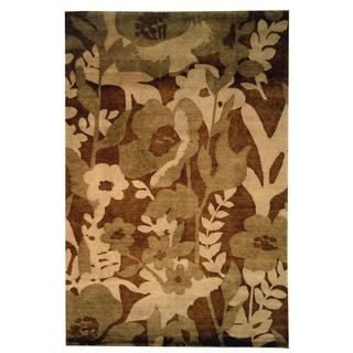 Safavieh Hand-knotted Tibetan Brown Wool Area Rug (9' x 12')