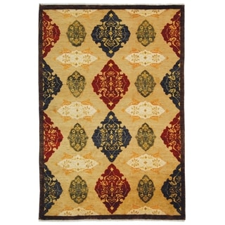 Safavieh Hand-knotted Tibetan Geometric-pattern Multicolored Wool Rug (5' x 7'6'')
